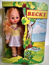 "Vintage Becky Fashion Doll 11,5"" Carded Hong Kong Wilco"