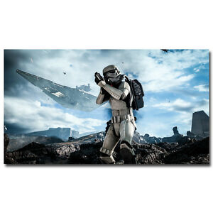 Star Wars Battlefront Game Silk Poster 13x20 24x36 inches Stormtrooper 084