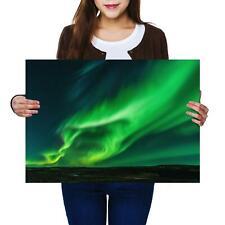 A2 | Northern Lights Aurora Borealis Size A2 Poster Print Photo Art Gift #14134