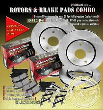 Rotors & Ceramic Brake Pads W/Hardware Front & Rear Fits 00-05 Chevrolet Impala