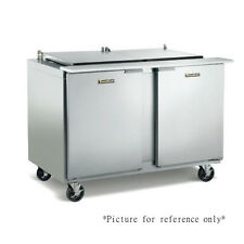 """Traulsen Ust7218-Ll-Sb 72"""" Refrigerated Counter with Stainless Steel Back"""