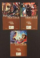 BLACK PANTHER #23 24 25 Comic Books CIVIL WAR Marvel 2007 Michael Turner Vf