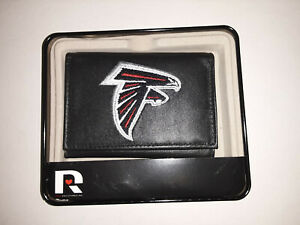 Atlanta Falcons NFL Embroidered Leather Tri-fold Wallet