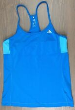 Adidas Tank Medium Womens Climalite Strappy Racerback Yoga Workout Fitness Blue