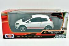 Modèle Auto Fiat Grande Punto Abarth Échelle 1:24 Voiture Model de Diecast