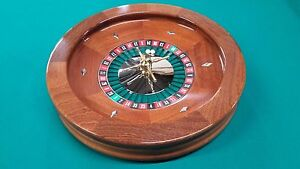 19 Inch Solid Mahogany Roulette Wheel Made in the USA by ACEM CASINO SUPPLIES