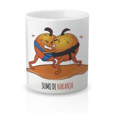Taza Desayuno Café Regalo Original Divertida. taza con frase sumo de naranja.