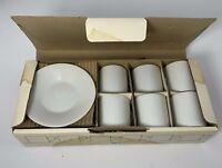 Pier 1 Demi-Tasse 6 Sets White Vintage Porcelain Japan Espresso Coffee Excellent