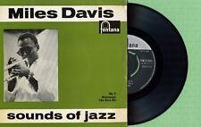 MILES DAVIS / Milestones Two Bass Hit FONTANA TFE 17223 Pres England 1958 EP VG+