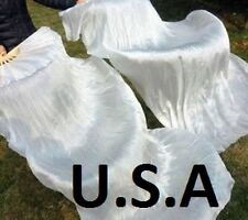 USA, FAST, QUICK SHIP ! BELLY DANCE  SILK  FAN VEILS 1.8m Best Top Quality !