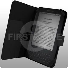 NEW Black PU Leather Flip Wallet Case for Amazon Kindle 3 - UK Seller - In Stock