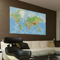 Map of the World Vinyl Wall Stickers, Wall Art, Wall Decals, Wall Murals