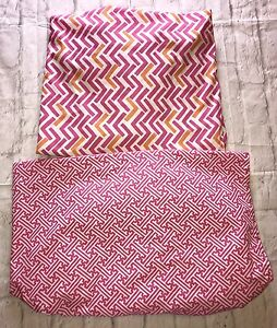 2 Pottery Barn Kids Pink Multicolor Fitted Toddler Bed Sheets Gift