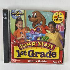 JumpStart 1st Grade Deluxe 2.0 PC MAC CD learn money phonics reading math! 2CDs