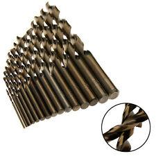15pcs HSS-CO 1.5-10mm M35 Cobalt High Speed Steel 5% Twist Drill Bit
