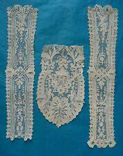 Antique fine Brussels Point de gaze lace fragments