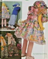 """1998 VTG Simplicity Sewing Pattern 8268 30"""" Boy & Girl Doll Bunny Clothes 6591F"""