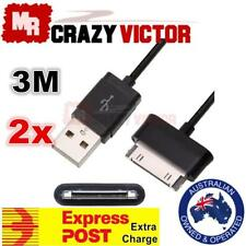 2x 3M USB Charging Charger Cable fr Samsung Galaxy Tab Tablet P1000 P7500 P7510
