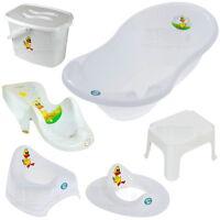 Baby Badewanne Set ENTE Babywanne Sitz Töpfchen WC Hocker Windeleimer