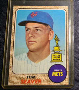 1968 TOPPS BASEBALL #45 TOM SEAVER Mets All Star Rookie Excellent 100% Authentic