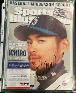 ICHIRO SUZUKI Sports Illustrated Baseball Midseason Report Autograph PSA/DNA