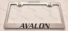 TOYOTA AVALON Stainless Steel License Plate Frame Rust Free W/ Bolt Caps