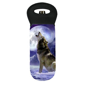 Wolf howling at moon cooler carry bag brand new great gift idea