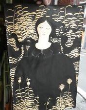 wautiez jean claude dessin encre de chine style art nouveau  1968