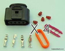 4 X Conector De Bobina De Chispa VW Audi Kit 1J0973724 o 1J0 973 724