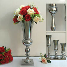 Large Stunning Silver Iron Luxury Flower Vase Urn Wedding Table Centrepiece 50CM
