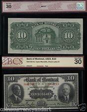 1923 Bank of Montreal $10