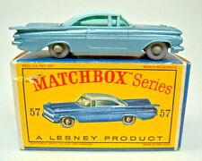 """Matchbox RW 57b Chevrolet Impala ruedas grises negra BPL. en """"d"""" box"""