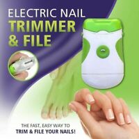 NEW ELECTRIC NAIL TRIMMER AND FILE, TRIMMER & FILE NAILS SAFER AND FASTER 2020
