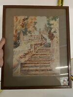 Aquarelle Ancienne Peinture French Painting XIXeme Dessin J.Julie Tarn