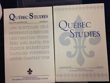 Quebec Studies American Council for Quebec Studies Jou LN 1995 Vol 19-20 180902