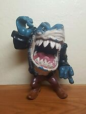 1995 Vintage Street Wise Street Sharks RIPSTER pool hall shark action figure