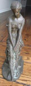 Antique Schoenewerk Bronze Statue of  Nude Goddess