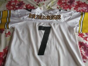 Ben Roethlisberger #7 Super Bowl XL Steelers Jersey large *read description*
