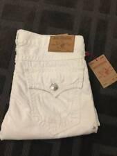 True Religion Jeans STRAIGHT FLAP WHITE SUPER QT Size 36 MSRP $349