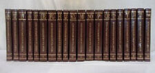 The New Standard Encyclopedia Leather Book Set with World Maps Inside - 20 Vols.