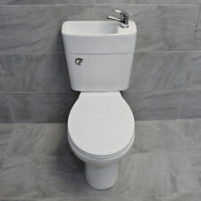 Duo All In One Toilet Basin Sink Space Saving Combination Cloakroom Unit Inc Tap