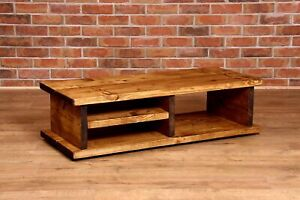 Upcycled Solid Wood COUNTRY RUSTIC VINTAGE TV UNIT CHUNKY HANDMADE