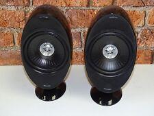 Pair KEF HTS KHT 3001SE Black Finish Surround Sound Cinema Loud Speakers