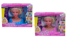 2x Angell Hair Styling Head Dream Fashion Hair Dressing Doll Toy Girl Xmas Gift