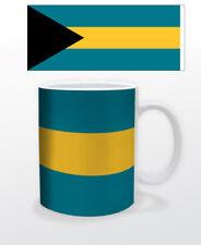 BAHAMAS 11 OZ COFFEE MUG TEA CUP FLAG CARIBBEAN NASSAU BEAUTIFUL TOURISM CREOLE!