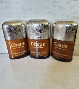 3 Chaps by Ralph Lauren Soothing After Shave Balm .5 oz Each, New Read!