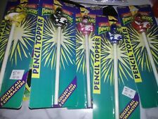 Lot of 5 *RARE*-1993 Mighty Morphin Power Rangers Pencil Topper Complete Set NEW