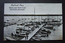 Sailboat Race WHITE LAKE YACHT CLUB, Whitehall, Michigan RPPC postcard