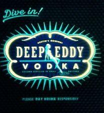 NEW! Dive In! Deep Eddy Vodka Blue Rubber Bar Spill Mat Square 12 X 12