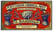 Us Seller- Macaroni label Il Garofalo Brand art poster prints for sale online